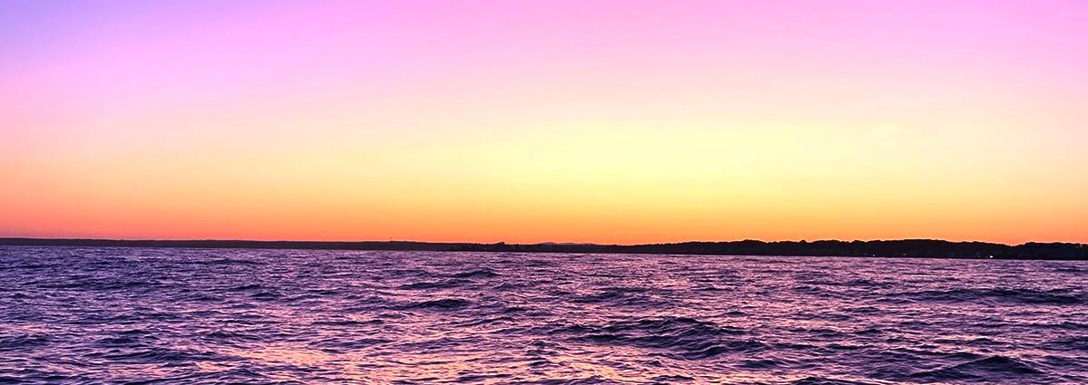 Beautiful sunset on the water